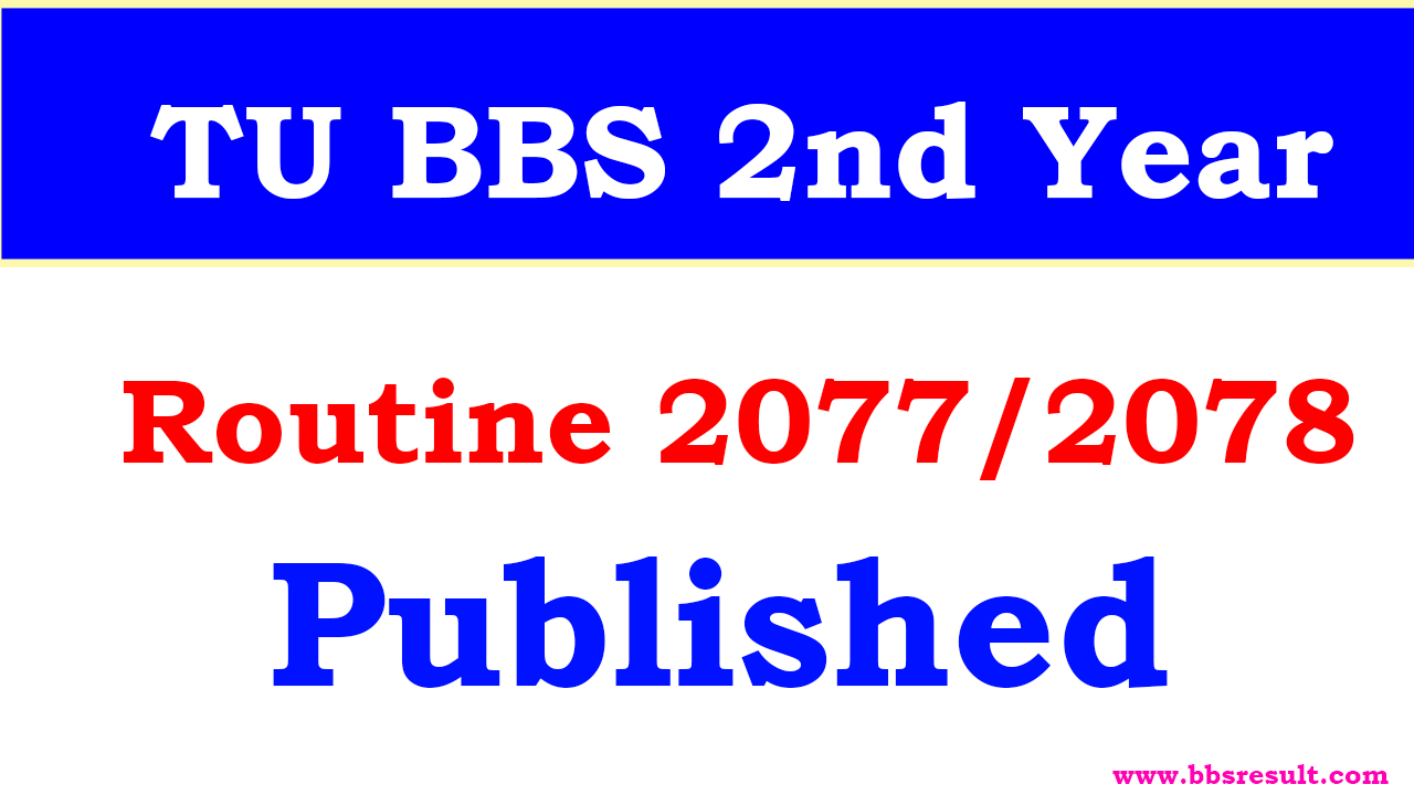 TU BBS 2nd Year exam routine published